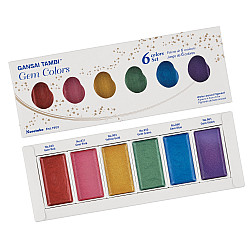 Kuretake Gansai Tambi Water Colors - Gem Colors - Set van 6