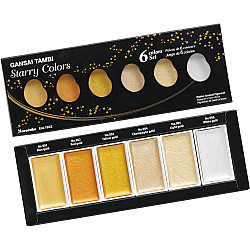 Kuretake Gansai Tambi Water Colours - Starry Colors - Set van 6
