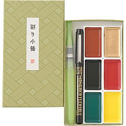 Kuretake Irodori Kobako Water Colours Starter Set - Groen