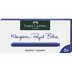 Faber-Castell Groot Formaat Vulpen Vullingen - Set van 5 - Koningsblauw
