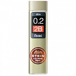 Pentel Ain STEIN C272-2B Silicium Vulpotlood vulling - Etui van 20 - 0.2 mm - 2B