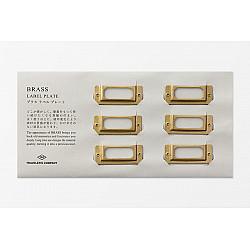 TRAVELER'S Company Solid Brass Label Plate - Set van 6