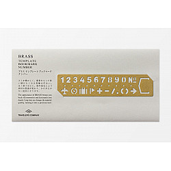 TRAVELER'S Company Solid Brass Template Bookmark Sjabloon - Numbers