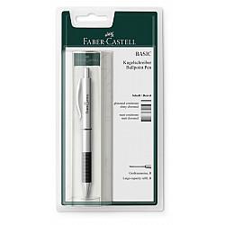 Faber-Castell Basic Ballpoint - Mat Chroom