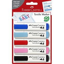Faber-Castell Baby Textiel Marker - Set van 5