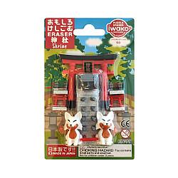 Iwako Novelty Eraser Gummetjes - Shrine - Set van 8
