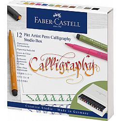 Faber-Castell Pitt Artist Pen - Calligraphy Studio Box - Set van 12