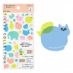 Midori Sticker Collection - Colourful Animals