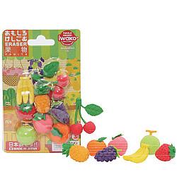 Iwako Novelty Eraser Gummetjes - Fruits - Set van 8
