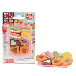 Iwako Novelty Eraser Gummetjes - Cookies Set - Set van 8