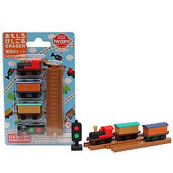 Iwako Novelty Eraser Gummetjes - Locomotive Set - Set van 6