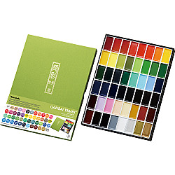 Kuretake Gansai Tambi Water Colours Brush Set - 48 kleuren