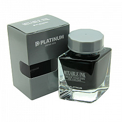 Platinum Mixable Ink Vulpen Inkt - 20 ml - Smoke Black