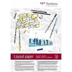 Tombow Layout Paper Blok - A4 - Semi-Transparant Wit - 75g papier - 75 vellen