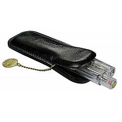 Kaweco Lederen Sport Etui voor 2 Pennen - Met muntje - Zwart
