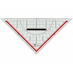M+R Plexiglas Geodriekhoek voor Technisch Tekenen - 20 cm - Transparant