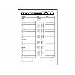 Sigel Express Score Block voor Klaverjassen - A5 - Set van 5 blokken