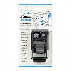Midori Pre-Inked Stamp -  Weekdagen & Weer