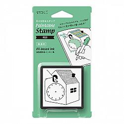 Midori Pre-Inked Stamp - Clock