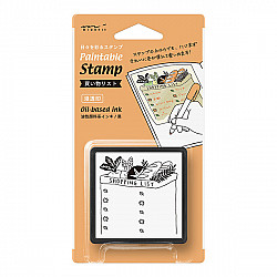 Midori Pre-Inked Stamp - Shopping List