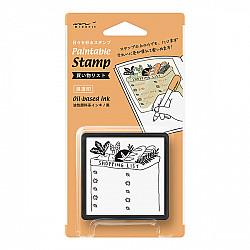 Midori Pre-Inked Stamp - Shopping List