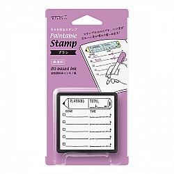 Midori Pre-Inked Stamp - Planning