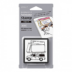 Midori Pre-Inked Stamp - Travel Go To