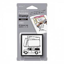 Midori Pre-Inked Stamp - Travel Go To