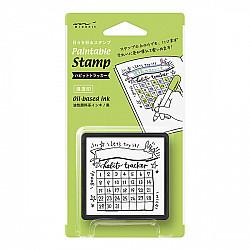 Midori Pre-Inked Stamp - Habit Tracker