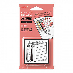 Midori Pre-Inked Stamp - Book Reading List