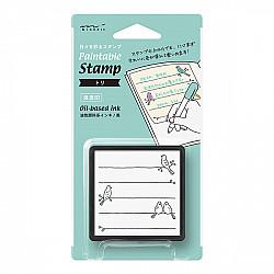 Midori Pre-Inked Stamp - Birds