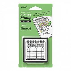 Midori Pre-Inked Stamp - Calendar