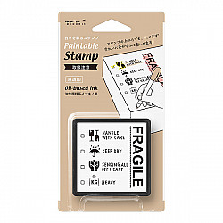Midori Pre-Inked Stamp - Fragile
