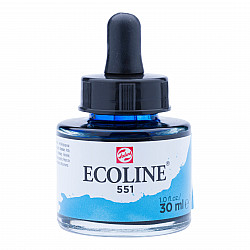 Talens Ecoline Vloeibare Waterverf Inkt - 30 ml - 551 Sky Blue Light (Licht Hemelsblauw)