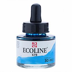 Talens Ecoline Vloeibare Waterverf Inkt - 30 ml - 578 Sky Blue Cyan (Hemelsblauw Cyaan)