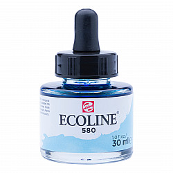 Talens Ecoline Vloeibare Waterverf Inkt - 30 ml - 580 Pastel Blue (Pastel Blauw)
