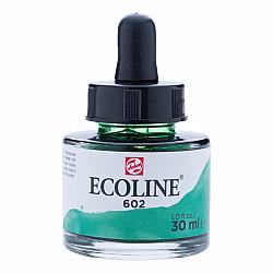 Talens Ecoline Vloeibare Waterverf Inkt - 30 ml - 602 Deep Green (Donkergroen)