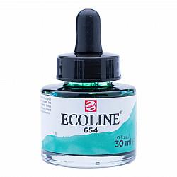 Talens Ecoline Vloeibare Waterverf Inkt - 30 ml - 654 Fir Green (Dennengroen)