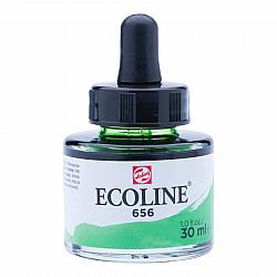 Talens Ecoline Vloeibare Waterverf Inkt - 30 ml - 656 Forest Green (Woudgroen)