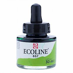 Talens Ecoline Vloeibare Waterverf Inkt - 30 ml - 657 Bronze Green (Bronsgroen)