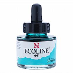 Talens Ecoline Vloeibare Waterverf Inkt - 30 ml - 661 Turquoise Green (Turkoois Groen)