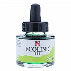 Talens Ecoline Vloeibare Waterverf Inkt - 30 ml - 665 Spring Green (Lentegroen)