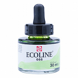 Talens Ecoline Vloeibare Waterverf Inkt - 30 ml - 666 Pastel Green (Pastel Groen)