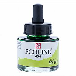 Talens Ecoline Vloeibare Waterverf Inkt - 30 ml - 676 Grass Green (Grasgroen)