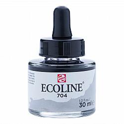 Talens Ecoline Vloeibare Waterverf Inkt - 30 ml - 704 Grey (Grijs)