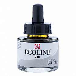 Talens Ecoline Vloeibare Waterverf Inkt - 30 ml - 718 Warm Grey (Warmgrijs)