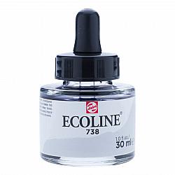 Talens Ecoline Vloeibare Waterverf Inkt - 30 ml - 738 Light Cold Grey (Licht Koud Grijs)