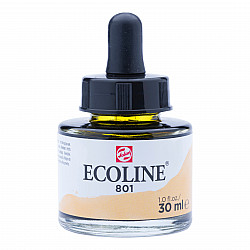 Talens Ecoline Vloeibare Waterverf Inkt - 30 ml - 801 Gold (Goud)