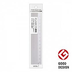 Midori Aluminium Liniaal - 15 cm - Zilver