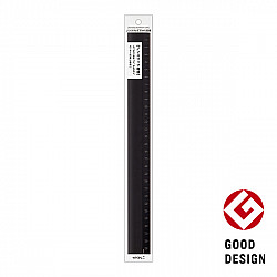 Midori Aluminium Liniaal - 30 cm - Zwart